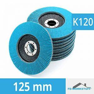 10 x rondelles de blocage dentelées, 125 mm, grain 120, disques à surfacer, disque abrasif, disque à lamelles INOX de la marque FD-Workstuff image 0 produit