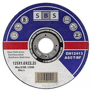 100 Pièce SBS Inox Disques À Tronçonner 125 x 1,0 mm de la marque nibeBaustoffe image 0 produit