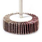 10x 80 # Grain de ponçage Rabat Disque de roue Papier abrasif Tampon de polissage Jante Rotary Outils de la marque eastar image 3 produit