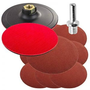 125mm 12,7cm polissage Pad Disc Plateau de ponçage pour perceuse Hook & Loop (327) Pad d'angle + Fixation + 10disques abrasifs de la marque Germa Flex image 0 produit
