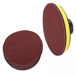 1pcs disques de disque de polissage M14x150mm + 20pcs grain 100 adhésif collant disque de papier de verre mandrin 150mm angle meuleuse rotatif accessoires - Single Grit Set de la marque Naitesi Tool image 0 produit