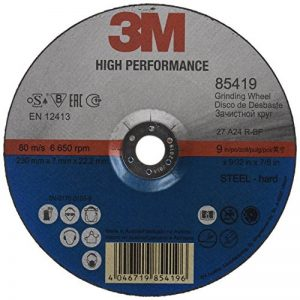 3M 85419High Performance Disque à ébarber, Steel, Type 27, 230mm, 7mm, 22,23mm (Lot de 10) de la marque 3M image 0 produit
