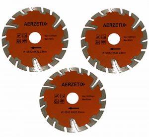 Aerzetix: 3x Disque diamant turbo segmenté 125mm 22.2mm pour meuleuse d'angle coupe carrelage béton pierre C18204 de la marque AERZETIX image 0 produit