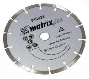 AERZETIX - DISQUE DIAMANT COUPE A SEC SEGMENTE POUR MEULEUSE D'ANGLE TRONCONNEUSE 180MM de la marque AERZETIX image 0 produit