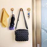 Angelbubbles Crochets adhésifs crochets muraux 6 pièces / Paquet 3M Autocollant + 304 en acier inoxydable + Bambou (Rond) de la marque Angelbubbles image 3 produit
