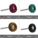 Anpress Lot de 80 roues abrasives de polissage 80 grains 150 grains 240 grains 300 pour outils rotatifs Dremel de la marque Anpress image 2 produit