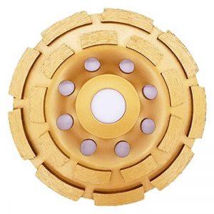 APLUS Disque Diamant à Meuler poncer le Béton assiette pour meuleuse pour Béton, Granit, Pierre et Maçonnerie brique surfaçage façonnage. 2 rangées. (125mm) de la marque APlus image 0 produit