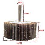 Bardland 60x25x6 5x ponçage disque de roue de rabot de papier abrasif 60 grains pour outils rotatifs Dremel de la marque bardland image 1 produit