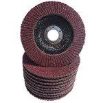 BOHRFUX - Lot de 10 disques abrasifs à ailettes - 125 mm de diamètre x 22,23 mm - Granulation P40 - Marron - Pour meuleuse d'angle - Pour meuler tous les bois, l'acier, le vernis, le métal et plus de la marque Bohrfux image 1 produit