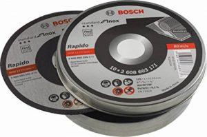 Bosch 2608603255 Disque à tronçonner à moyeu plat standard for inox rapido WA 60 T BF 125 mm 22,23 mm 1,0 mm de la marque Bosch image 0 produit
