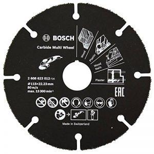 BOSCH 2608623012 Disque à tronçonner Multi Wheel en carbure, Noir, 115mm de la marque Bosch image 0 produit