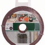Bosch 2609256254 Disques abrasifs pour Meuleuse d'angle Fixation à pince 125 mm 22 mm Bois et métal 12 pièces Grain varié de la marque Bosch image 1 produit