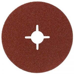 Bosch 2609256255 Disques abrasifs pour Meuleuse d'angle Fixation à pince 180 mm 22 mm Bois et métal 12 pièces Grains variés de la marque Bosch image 0 produit