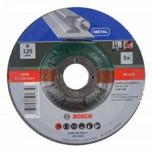 Bosch 2609256333 disques à tronçonner Diamètre 125 mm - Lot de 5 de la marque Bosch image 0 produit