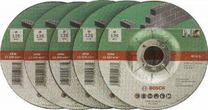 Bosch 2609256335 Assortiment de disques à tronçonner à moyeu déporté pour Matériaux Diamètre 125 mm Diamètre d'alésage 22,23 Epaisseur 2,5 mm 5 disques de la marque Bosch image 0 produit