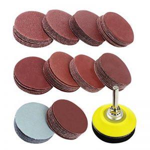 Coceca 5,1cm Lot de 100disques abrasifs Pad Kit pour perceuse meuleuse outils rotatifs avec envers plate 1/10,2cm Tige Comprend 80–3000Grain Polish Deluxe, rouge de la marque Coceca image 0 produit