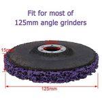 CSD Lot de 2 disques de nettoyage en nylon pour meuleuse d'angle Mauve 125 mm de la marque PTPTRATE image 1 produit