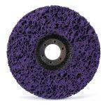 CSD Lot de 2 disques de nettoyage en nylon pour meuleuse d'angle Mauve 125 mm de la marque PTPTRATE image 2 produit