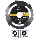 Disque coupe bois et PVC pour Meuleuse 115mm Alesage 22.5mm Haute résistance de la marque VITO-Pro-Power image 1 produit