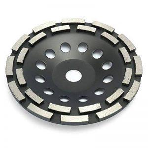 Disque diamant 125-180mm à meuler le béton, meule abrasive à poncer béton, pierre, granit, 2 rangées diamantés (180mm, noir) de la marque Buzz image 0 produit