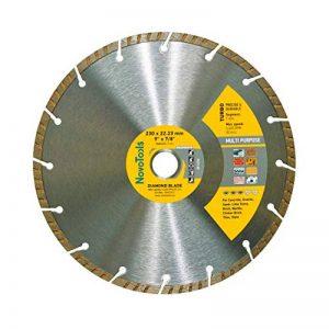 Disque à tronçonner diamant Turbo 230mm pour stone, granite, béton, acier béton, brique, la brique etc. de la marque NOVOTOOLS image 0 produit