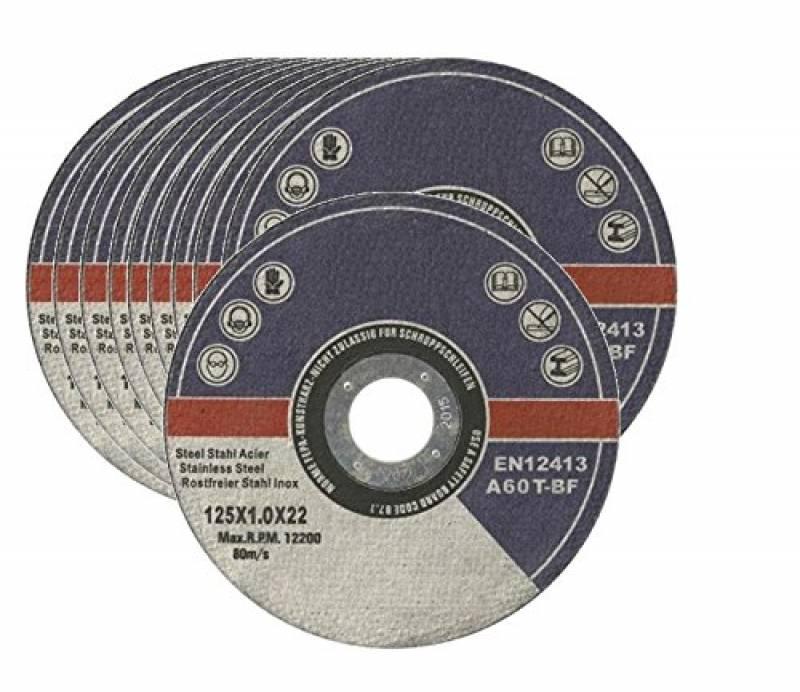 RPM 12200 Disques /à Tron/çonner le M/étal 125mm x 1mm x 22.2mm LZ pour broyeur dangle 80M//S de LZ ULTRA MINCE Lot de 10 DURABLE