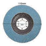 Disques à lamelles Disques de ponçage de 115 mm Disques de ponçage d'oxyde d'aluminium à Grains mélangés à Grains 40/60/80/120 pour Les Meuleuses d'angle de la marque miss-an image 3 produit