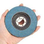 Disques à lamelles Disques de ponçage de 115 mm Disques de ponçage d'oxyde d'aluminium à Grains mélangés à Grains 40/60/80/120 pour Les Meuleuses d'angle de la marque miss-an image 2 produit