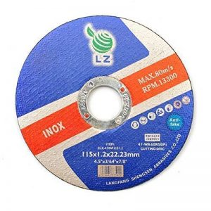 Disques à Tronçonner le Métal 115mm x 1mm x 22.2mm LZ – Lot de 10, pour broyeur d'angle, ULTRA MINCE, DURABLE, RPM 13300, 80M/S de LZ de la marque LZ image 0 produit