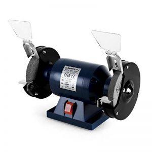 EBERTH 150 mm Touret à meuler double (250 Watt, 1x Meule de dégrossissage et 1x Meule de ponçage, Capots de protection, Pieds antivibratoires) de la marque EBERTH image 0 produit