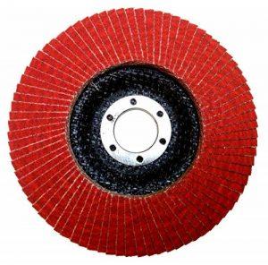 Falon Tech Flap Disk K120 Disque à lamelles en céramique Grain P 120 Rouge Ø 125 mm de la marque Falontech image 0 produit