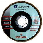 Falon Tech Flap Disk K120 Disque à lamelles en céramique Grain P 120 Rouge Ø 125 mm de la marque Falontech image 1 produit