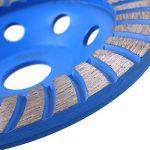 FIXKIT Disque Diamant à Meuler Diamant Meule Double Rangée et Universelle Pour Béton, Maçonnerie, Marbre, Granit 125 * 22.23mm Bleu (125mmφ) de la marque Fixkit image 3 produit