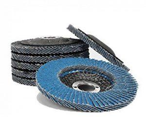 Flap Sanding Disques de meulage Grinder d'angle Wheels 100mmx16mm Grits 80 Blue 10pc / Set de la marque CaiMei Polish Tool image 0 produit