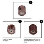 GOXAWEE 50Pcs Ponçage Abrasif Roues à Lamelles Brosses Abrasives Accessoires d'outils de Polissage pour Outils Rotatifs/Grain 80# 120# 240# 400# 600# / avec 5Pcs 3mm Mandrins de la marque GOXAWEE image 3 produit