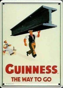 GUINNESS IRISH MAN avec une poutre métallique Inscription Taille S de la marque Guinness image 0 produit