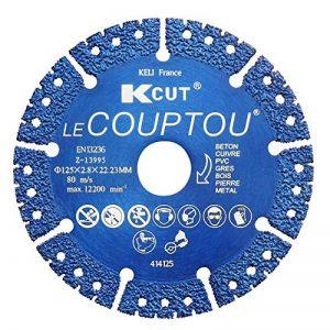 KCUT 414125 Disque Diamant à tronconner LE COUPTOU 125mm, utilisation universelle (béton, brique, fer, pierre, tuiles, parpaing,..), EN13236 - KCUT de la marque Keli image 0 produit