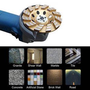 KKmoon 100mm 10,2cm disque Segment de meulage Diamant Forme de bol Broyeur de coupe 22mm Trou Intérieur béton Granite maçonnerie Pierre Céramique Terrazzo Marbre pour l'industrie de la construction de la marque KKmoon image 0 produit