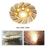 """KKmoon 100mm 4"""" Segment de Diamant en Roue Hélicoïdale Disque-lime 22mm Diamètre Intérieur de la marque KKmoon image 4 produit"""