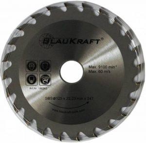 Lame de scie circulaire pour bois pour meuleuse d'angle 125mm Disques à tronçonner 125x 22x 24dents TCT à 125mm 24dents 12,7cm de la marque Blaukraft image 0 produit