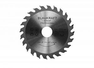 Lame de scie pour meuleuse d'angle 115mm pour bois Disques de coupe Circulaire 115x22x24T TCT 24t de la marque Blaukraft image 0 produit