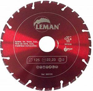 Leman 950115 Disque diamant brasé 115x45x1.8x2.0 coupe aciers Noir de la marque Leman image 0 produit