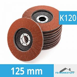 Lot de 10 compartiments Disques 125 mm Grain 120 compartiments schleifscheibe Marron ponçage Mop Assiettes de la marque FD-Workstuff image 0 produit