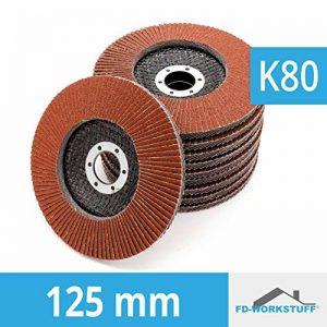 Lot de 10compartiments Disques 125mm Grain 80à lamelles Marron ponçage Mop Assiettes Disque abrasif à lamelles de la marque FD-Workstuff image 0 produit