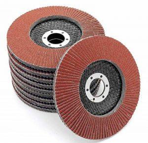 Lot de 10 disques abrasifs à lamelles Ø 125 mm K 40 (brun) ou marron ponçage Mop de la marque FD-Workstuff image 0 produit