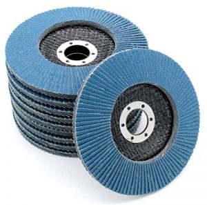 Lot de 10disques abrasifs à lamelles - Disques de meulage inox 125mm - Grain 40 de la marque FD-Workstuff image 0 produit