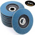 Lot de 10disques abrasifs à lamelles - Disques de meulage inox 125mm - Grain 40 de la marque FD-Workstuff image 2 produit