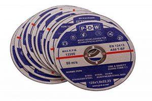 Lot de 10 disques de découpe flexibles en inox pour meuleuse tronçonneuse ou meuleuse d'angle, diamètre d'arbre 125 mm de la marque S&S-Shop image 0 produit