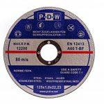 Lot de 10 disques de découpe flexibles en inox pour meuleuse tronçonneuse ou meuleuse d'angle, diamètre d'arbre 125 mm de la marque S&S-Shop image 1 produit