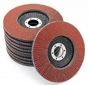 Lot de 10disques de ponçage à lamelles Ø 125mm Grain 60Marron de la marque FD-Workstuff image 0 produit